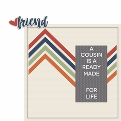 Cousins: Ready Made Friend 2 Piece Laser Die Cut Kit