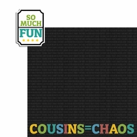 Cousins: So Much Fun 2 Piece Laser Die Cut Kit