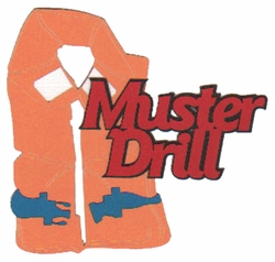 Cruise: Muster Drill With Life Jacket Laser Die Cut
