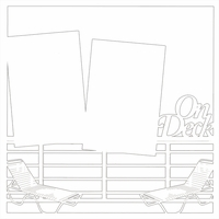 Cruise: On Deck 12 x 12 Overlay Laser Die Cut