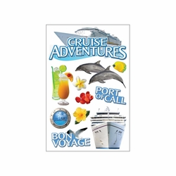 """Cruise Paper House 3D Stickers 4.5""""X8.5"""""""