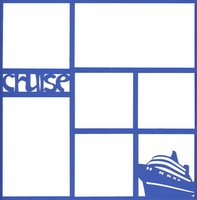 Cruise Photo Overlay Laser Die Cut