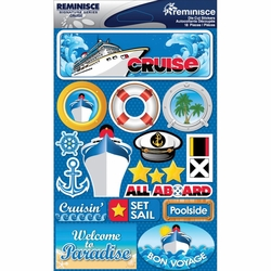 "Cruise Signature Dimensional Stickers 4.5""X6"" Sheet"