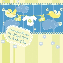 1SYT Custom Baby Boy Ducks 12 x 12 Paper