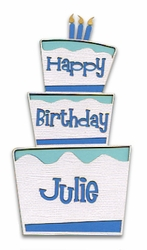 Custom Birthday Cake Boy Laser Die Cut