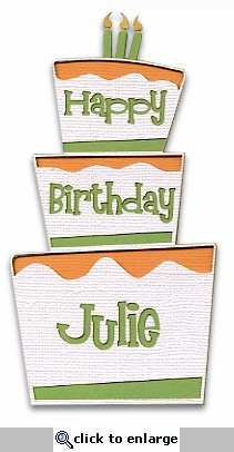 Custom Birthday Cake Laser Die Cut