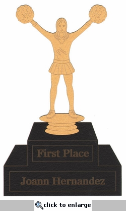 Custom Cheerleading Trophy Metallic Laser Die Cut