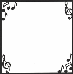 Custom Companion Music Notes 12 x 12 Overlay Laser Die Cut