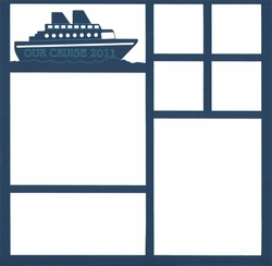 Custom Cruise Ship 12 x 12 Overlay Laser Die Cut