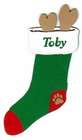 Custom Dog Stocking Laser Die Cut