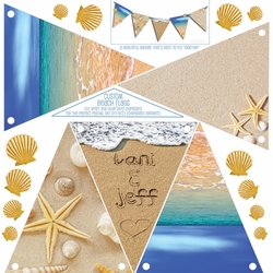 Custom Flag Banner Beach 12 x 12 Paper