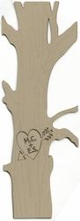Custom Initials Carved In Tree Border Laser Die Cut