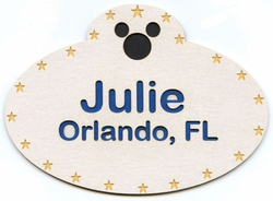 Custom Name Tag Laser Die Cut