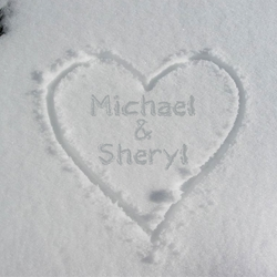 Custom Names In Snow 12 x 12 Paper
