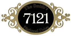 Custom Oval Address Plaque Laser Die Cut