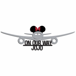Custom Plane with Minnie Bow Laser Die Cut