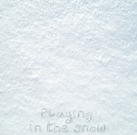 Custom Snow Writing 12 x 12 Paper