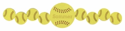 Custom Softball Border Laser Die Cut