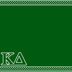 Custom Sorority Polka-Dotted Border Left 12 x 12 Paper