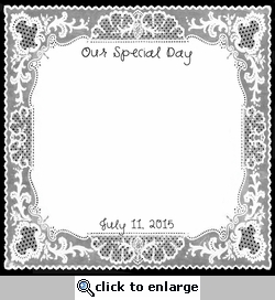 Custom Special Day Doily 12 x 12 Paper
