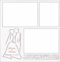Custom Wedding Silohuette 12 x 12 Overlay Laser Die Cut