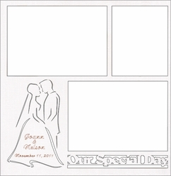 Custom Wedding Silhouette 12 x 12 Overlay Laser Die Cut