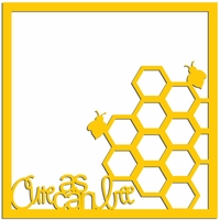 Cute as can Bee 12 x 12 Overlay Laser Die Cut