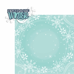 December: 1st Day of Winter 2 Piece Laser Die Cut Kit