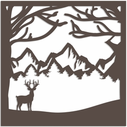 2SYT Deer 12 x 12 Overlay Quick Page Laser Die Cut