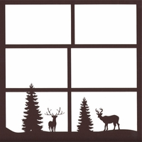 Deer And Trees 12 x 12 Overlay Laser Die Cut