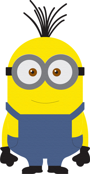 Despicable minion laser die cut for Minion overall template