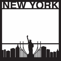 Destinations: New York 12 x 12 Overlay Laser Die Cut
