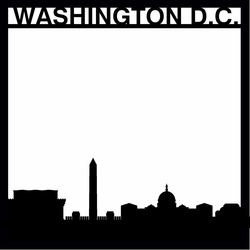 Destinations: Washington D.C. 12 x 12 Overlay Laser Die Cut