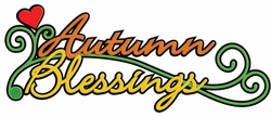 Digital Download: Autumn Blessings Laser Die Cut