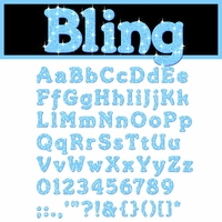 Digital Download: Bling: Blue Alpha Set