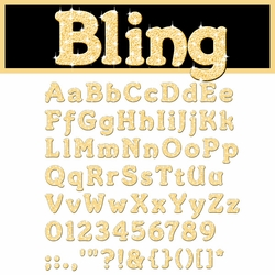 Digital Download: Bling: Gold Alpha Set