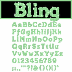 Digital Download: Bling: Green Alpha Set