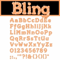 Digital Download: Bling: Orange Alpha Set