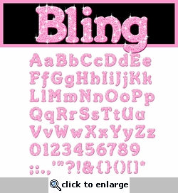 Digital Download: Bling: Pink Alpha Set