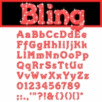 Digital Download: Bling: Red Alpha Set