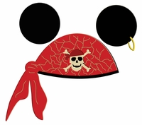 Digital Download: Character Pirate Hat Red Laser Die Cut