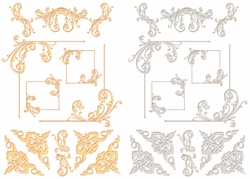 Digital Download: Gold & Silver Flourish Embellishment Pack Bundle