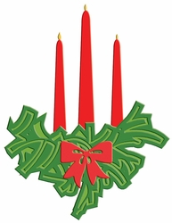 Digital Download Holiday Candlelight Laser Die Cut