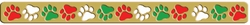 Digital Download: Holiday Paw Print Border Laser Die Cut