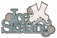 Digital Download: Ice Skating Glitter Laser Die Cut