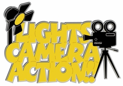 Digital Download: Lights Camera Action!! Laser Title Cut