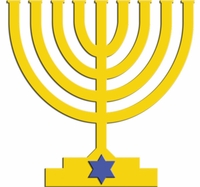 Digital Download: Menorah Die Cut