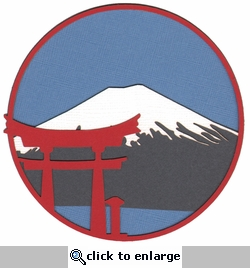 Digital Download: Mt. Fuji Circle Laser Die Cut