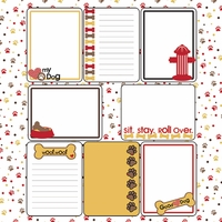 Digital Download: Puppy Love: Journaling Cards 12 x 12 Paper