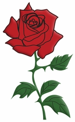 Digital Download: Red Rose Laser Die Cut